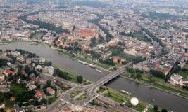 Vista aerea di Cracovia - di Cracovia Fotografie Stock
