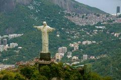 Vista aerea di Cristo la piattaforma della statua del redentore Immagine Stock Libera da Diritti