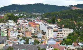 Vista aerea di Dalat, Vietnam fotografie stock libere da diritti