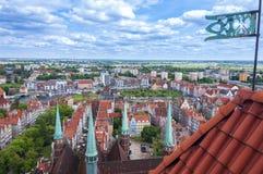 Vista aerea di Danzica in Polonia fotografia stock libera da diritti