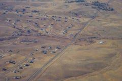 Vista aerea di Denver suburbana Fotografia Stock Libera da Diritti