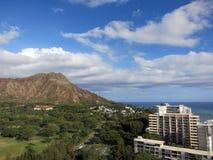 Vista aerea di Diamondhead, parco di Kapiolani Immagine Stock Libera da Diritti