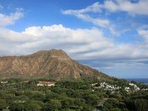 Vista aerea di Diamondhead, parco di Kapiolani Fotografia Stock