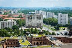 Vista aerea di Dresda orientale Fotografie Stock