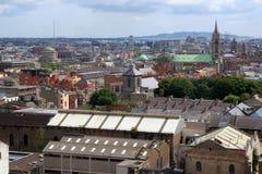 Vista aerea di Dublino Fotografia Stock Libera da Diritti