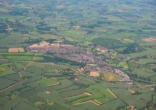 Vista aerea di Dunmow, Regno Unito Fotografia Stock Libera da Diritti