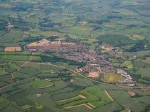 Vista aerea di Dunmow, Regno Unito Fotografia Stock