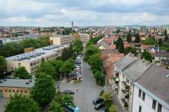 Vista aerea di Eger, Ungheria Fotografia Stock