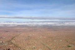 Vista aerea di El Alto sugli altopiani di Altiplano in Bolivia Immagine Stock Libera da Diritti