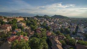 Vista aerea di Filippopoli, Bulgaria, il 23 ottobre 2018 fotografia stock libera da diritti