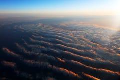 Vista aerea di formazione delle nuvole a partire dall'aereo Immagini Stock Libere da Diritti
