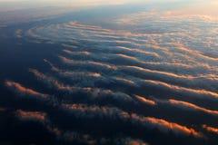 Vista aerea di formazione delle nuvole a partire dall'aereo Immagini Stock