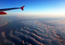 Vista aerea di formazione delle nuvole a partire dall'aereo Fotografie Stock Libere da Diritti