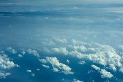 Vista aerea di formazioni della nube Fotografie Stock Libere da Diritti