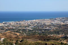 Vista aerea di Fuengirola, Spagna Fotografie Stock