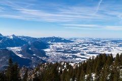 Vista aerea di Fuessen Fotografia Stock