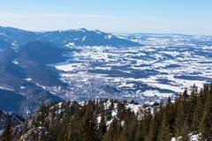 Vista aerea di Fuessen Immagini Stock