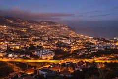 Vista aerea di Funchal fotografia stock