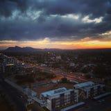 Vista aerea di Gaborone Fotografie Stock