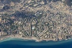 Vista aerea di Genova immagine stock libera da diritti