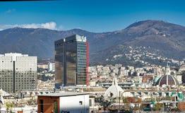 vista aerea di Genova immagini stock