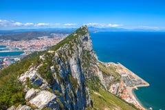 Vista aerea di Gibilterra Fotografia Stock