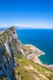 Vista aerea di Gibilterra Immagini Stock