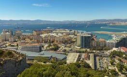 Vista aerea di Gibilterra, territorio del Regno Unito Fotografia Stock Libera da Diritti