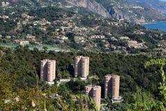 Vista aerea di giorno della città Fotografia Stock