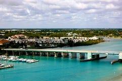 Vista aerea di Giove Florida immagini stock