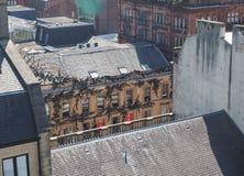 Vista aerea di Glasgow fotografia stock libera da diritti