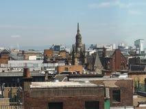 Vista aerea di Glasgow immagine stock