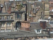 Vista aerea di Glasgow fotografie stock libere da diritti