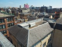 Vista aerea di Glasgow immagini stock libere da diritti