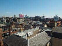 Vista aerea di Glasgow fotografia stock