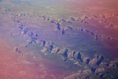 Vista aerea di Grand Canyon in Arizona Fotografie Stock Libere da Diritti