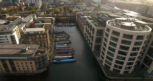 Vista aerea di grande canale del sindacato a Londra Fotografie Stock Libere da Diritti