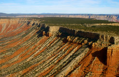 Vista aerea di grande canyon Immagini Stock Libere da Diritti