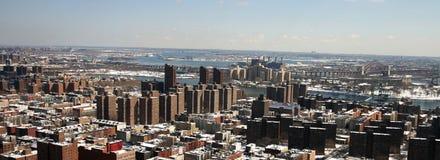 Vista aerea di Harlem orientale Immagini Stock Libere da Diritti