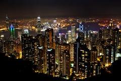 Vista aerea di Hong Kong Fotografia Stock