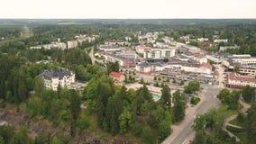 Vista aerea di Imatra video d archivio