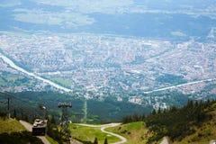 Vista aerea di Innsbruck Immagini Stock Libere da Diritti
