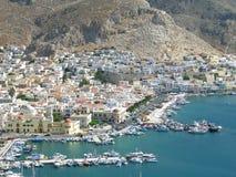Vista aerea di Kalymnos Fotografia Stock