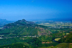 Vista aerea di Kauai Fotografia Stock