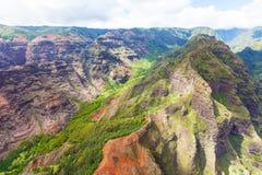 Vista aerea di Kauai Fotografia Stock Libera da Diritti