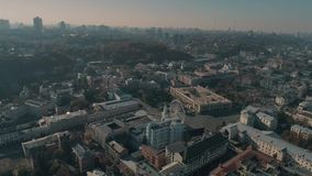 Vista aerea di Kiev stock footage