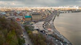 Vista aerea di Kiev Immagini Stock
