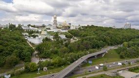 Vista aerea di Kiev Fotografia Stock Libera da Diritti
