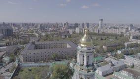 Vista aerea di Kiev Pechersk Lavra in autunno, Kiev, Kyiv, Ucraina archivi video