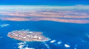 Vista aerea di Kish Island nel golfo persico, Iran Fotografia Stock Libera da Diritti